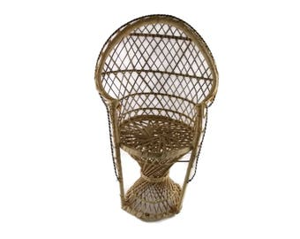 Small Wicker Chair | Miniature Chair | Vintage Wicker | Tiny Wicker Chair | Wicker Chair | Mini Wicker Chair | VintageByBaskett