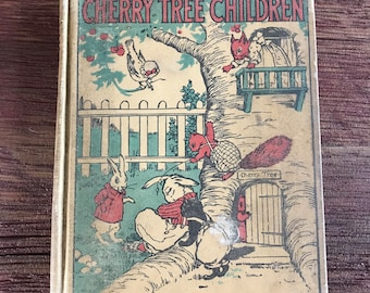 Vintage Children's Book Reader Cherry Tree Children Animals