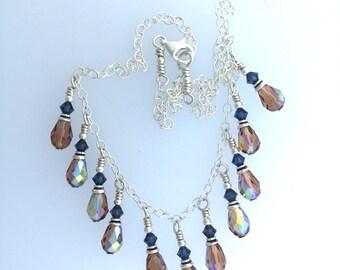 Swarovsky Crystal Colorado Topaz AB Necklace  by Kate Drew-Wilkinson