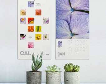 Flower Calendar 2018, Macro Photography, Photo Calendar 2018, Flower Prints, Floral Monthly Calendar, Flower Lover Gifts, Floral. MWCAL2