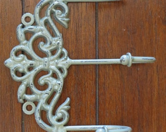 Shabby Chic Wall Hook Rack Entrance Coat Hanger Decorative