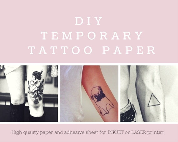 Diy Temporary Tattoo Paper Inkjet Or Laser Printer Print Your Own Tattoos At Home From Tattoosbyfrenzyflare On Etsy Studio