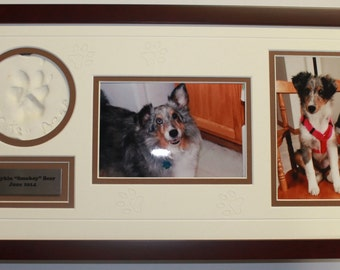 Pet Paw Print Picture Frames