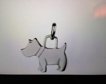 Sterling silver Scottie dog necklace