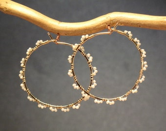 Hoops wrapped tiny seed pearls Cleopatra 120