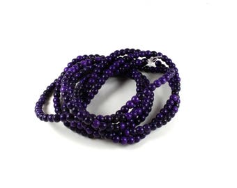 100 synthetic Turquoise beads 4mm purple