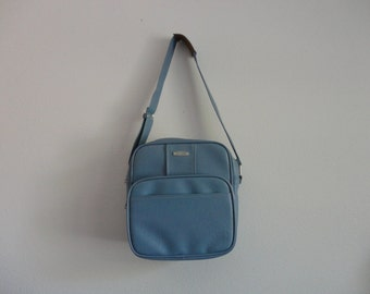 VINTAGE cornflower blue SAMSONITE messenger LUGGAGE bag