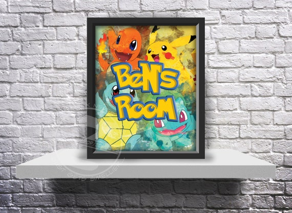 CUSTOM Pokemon Go Inspired Fan Art poster print choose Words, and Size