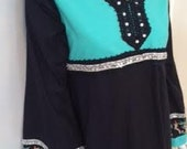Black and Turquoise Embro...