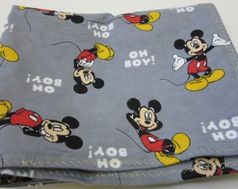 Baby Boys Cotton Flannel Receiving Blanket 37x41 Mickey Mouse Swaddling Crib Bassinet Disney Lightweight Girls Infant Bed Summer Spring