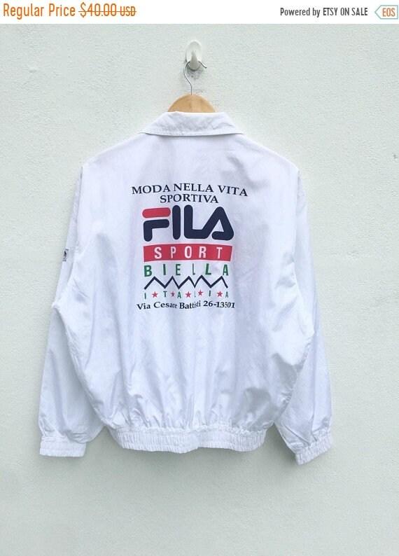 Vintage Fila Sweatshirt Big Logo Sweatshirt Hip Hop Mods Casuals Style 7y0Fs1xnbR