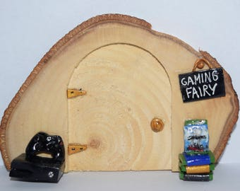 Magical And Fun Gaming Fairy Door - Hand Crafted by Mary-Beth Originals