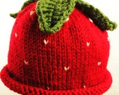 Strawberry Baby Hat - Cus...