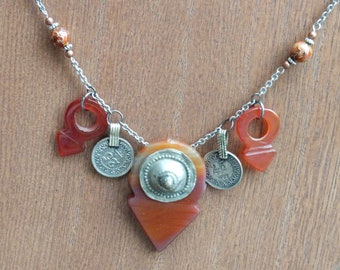Carnelian - Tribal Fusion Belly Dance Inspired Necklace