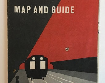 1958 Vintage New York City Subway Map and Guide