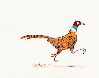 Dashing Pheasant, digital print