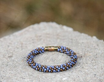 Blueberry Chocolate Dot Bracelet