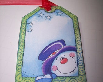 Snowman Tags set of 6