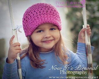 Crochet PATTERN - Crochet Hat Pattern - Crochet Newsboy Hat Pattern - Crochet Pattern for Women - Baby, Toddler, Kids, Adult Sizes - PDF 136