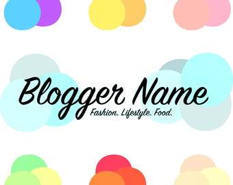 Pre-made blogger Logo. Blog Header. Blog Logo. Logo Design.