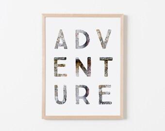Gray Stone Adventure Art. Nursery Wall Art. Nursery Prints. Nursery Decor. Boy Wall Art. Adventure Nursery. Adventure Art. Explorer Nursery.