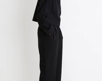 90s Black Crop Woolrich Jacket M