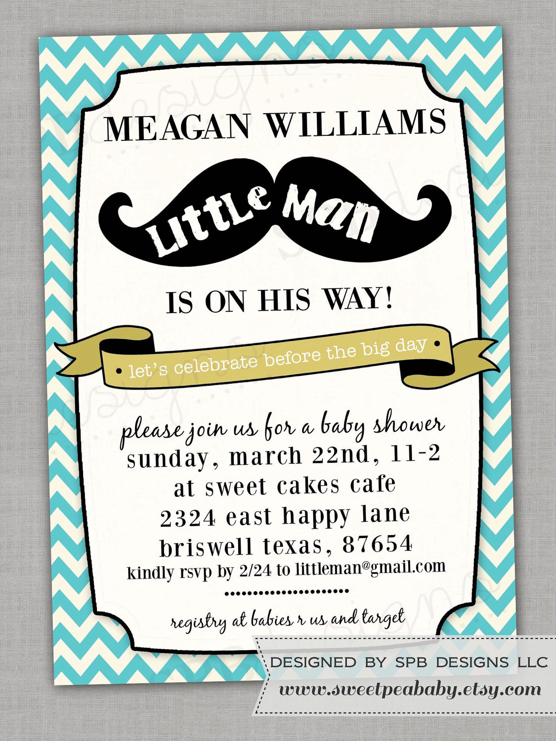 This is a picture of Dashing Free Printable Mustache Baby Shower Invitations