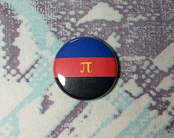 Polyamory Flag Pinback Button or Magnet
