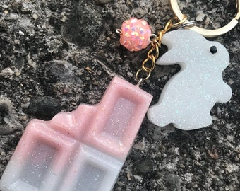 Starwberries and Cream Bunny Charm