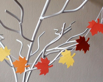 Fall cake topper , Autumn cake topper , Fall Wedding , Maple leaves , leaf garland , Thanksgiving decor , Fall baby shower , Fall party