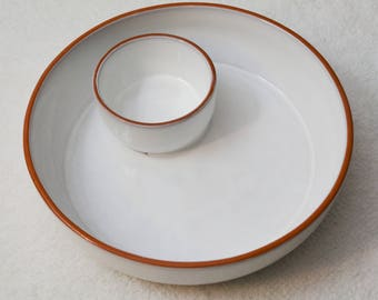 Ceramic Chip and Dip Serving Dish Platter