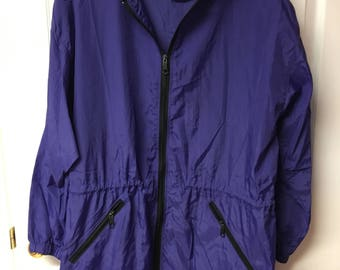 Vintage purple rain coat - as M/L