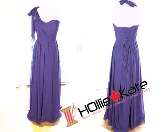 Convertible bridesmaid dress purple infinity dress bridesmaid chiffon convertible dress