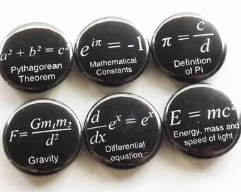 Math Magnets coworker gift back to school arithmetic science formulas fridge teacher student locker decoration home decor kitchen geek men