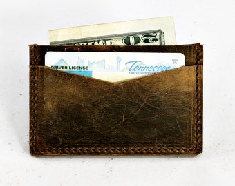 Double Sleeve Leather Card Wallet