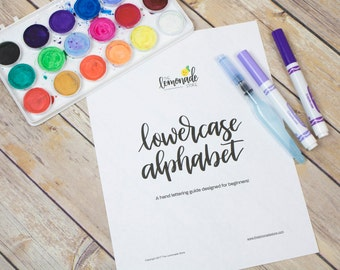 Lowercase Alphabet Practice Guides for Beginners - Hand Lettering Practice Guides, Learn Lettering, Crayola Calligraphy Practice Sheets