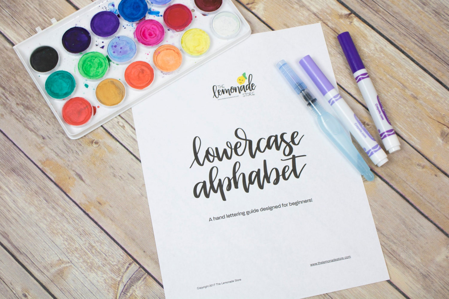 Lowercase Alphabet Practice Guides for Beginners - Hand Lettering ...