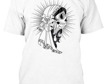 Sugar Skull - Day of the Dead - Dia De Los Muertos - Day of the Dead Shirt - Gyspy Shirt - Sugar Skull Shirt - Silk Screen Shirt - DOTD