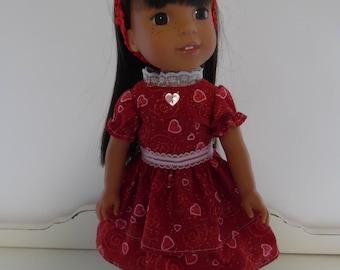 Wellie Wisher Valentine Dress with Headband