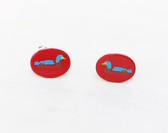 Red Duck Studs
