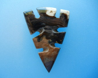 Unique Biggs Jasper arrowhead designer cabochon