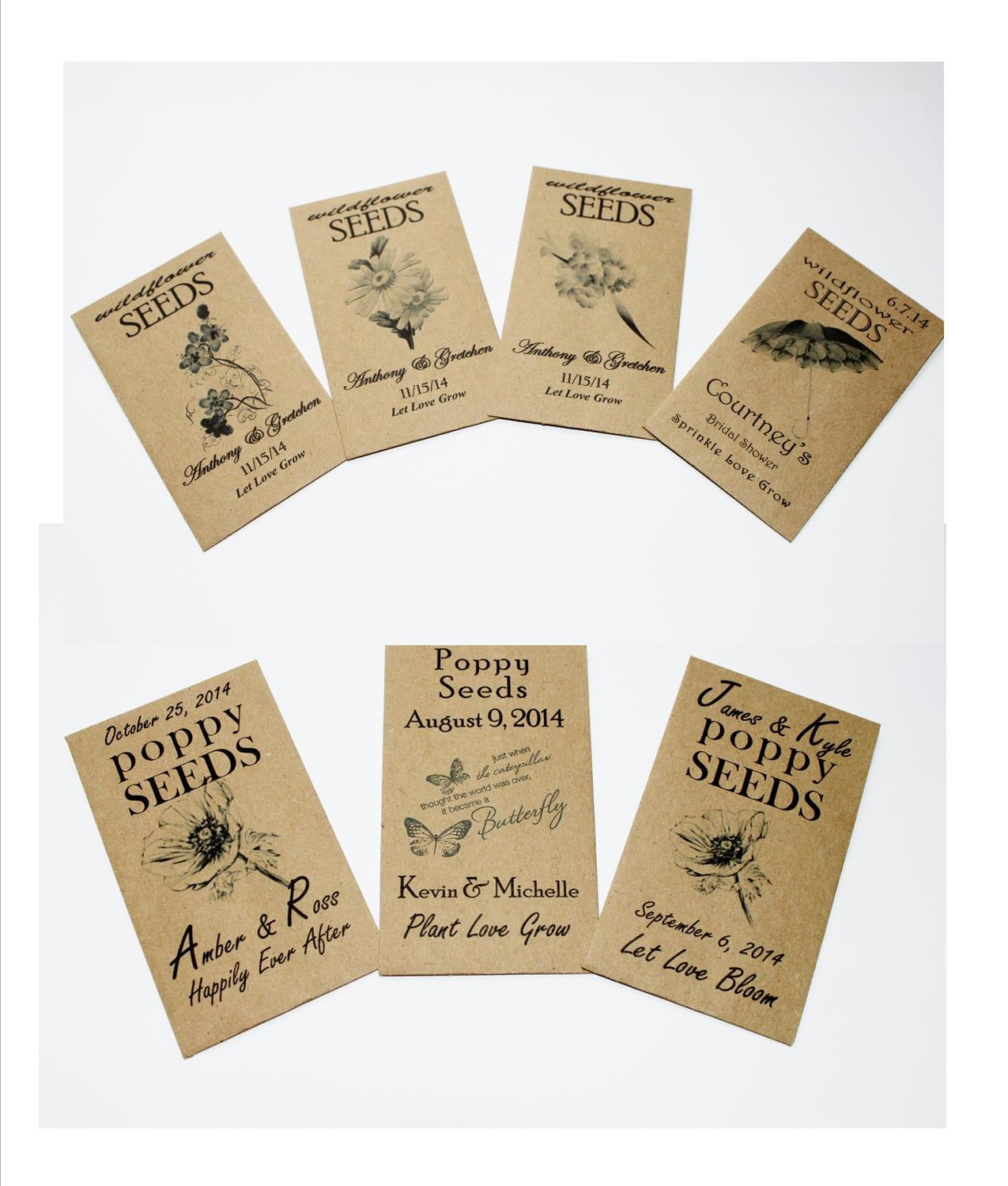 Seed Packets Seed Packet Favors Seed Packet Wedding Favors