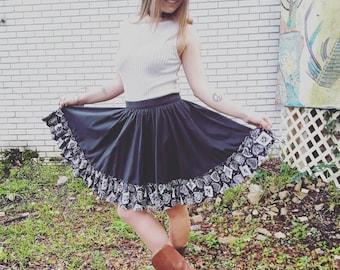 Vintage square dance skirt