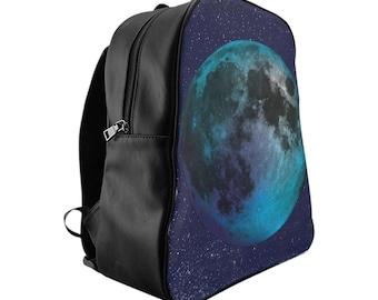 School Backpack  Blue Moon