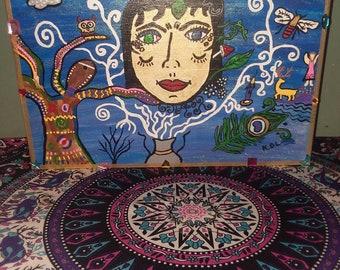 Mystical Wiccan Altar Box