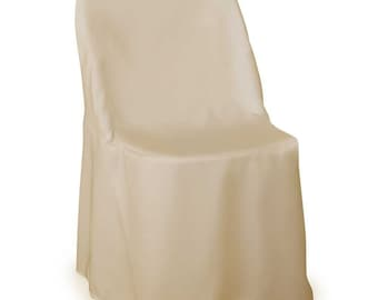 polyester chair cover, Folding Chair Cover, chair cover, slipcover Ivory, wedding chair cover, wedding decor, fantasy fabric designs