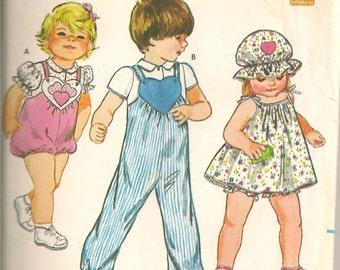 Butterick 4243  Children's Romper Pattern size 5