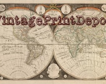World map vintage etsy 1799 world map vintage world map world map digital print rare world map gumiabroncs Gallery