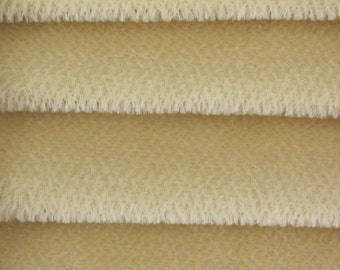 Quality 600S - Mohair - 1/3 yard in Intercal's Color 528S-Cream. A German Mohair Fur Fabric for Teddy Bear Making, Arts & Crafts