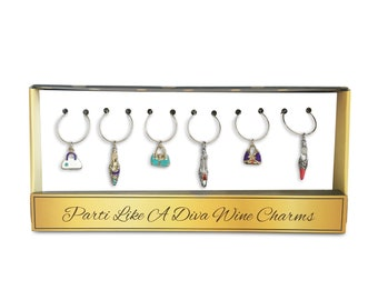 Parti Like A Diva Wine Glass Charms